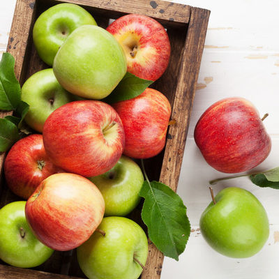 The apple is a round, tree fruit that grows in 7,500 different varieties around the world.