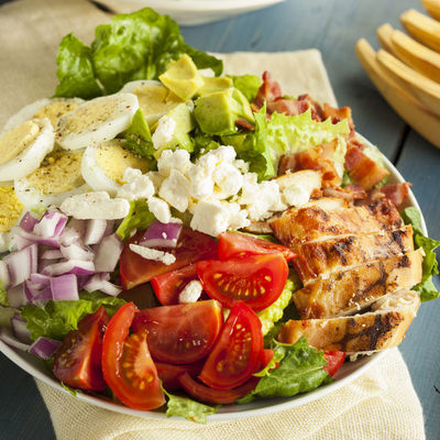 America's favorite salad. It's almost a meal by itself, and can be found in many American sit-in diners.