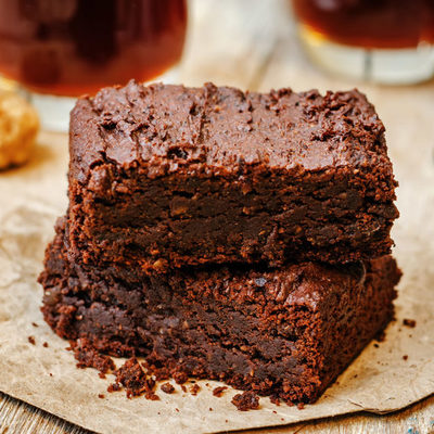 Brownie is a type of chocolate cake or fudge that is moist and made with baking powder.