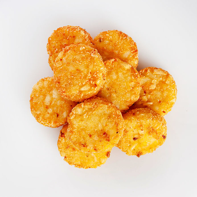 Hash browns are a potato-based dish that is shredded and pan-fried.