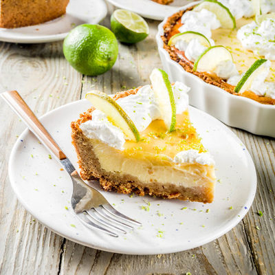 Key lime pie is a dessert with a classic American origin.