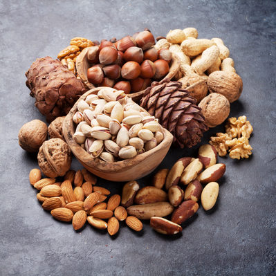 Nuts are fruits with an inedible hard shell and an edible inner seed.