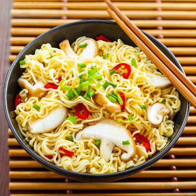 Yellow noodles, also known as alkaline noodles, are a type of noodle that have a high alkaline content.
