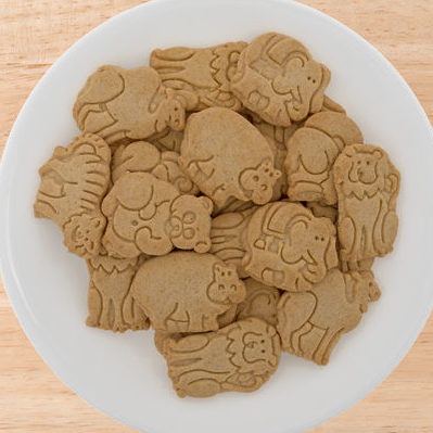 Animal crackers are not crackers. They are actually small cookies that are cut and baked in the shape of animals.