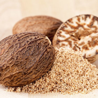 Nutmeg is a spice made from the fruit that grows from the Myristica fragrans tree.
