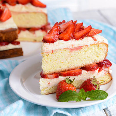 Sponge cake is a light cake made from flour, eggs, sugar, and sometimes baking powder.