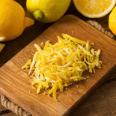 Zest is made from the peel of citrus fruits like lemon, orange, lime, grapefruit, mandarin, and pomelo.