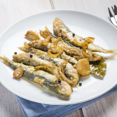 Sardines are a small, silvery fish from the Clupeidae family