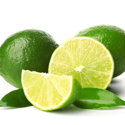 A lime (Citrus aurantiifolia) is a round, green acidic fruit with a hard peel and soft fleshy interior.
