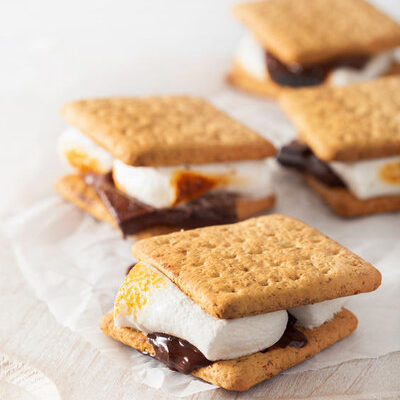 Marshmallows are sweet snacks made primarily from sugar, corn syrup, water, and gelatin.