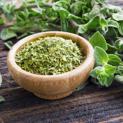 Oregano is an herb from the dried or fresh leaves of the oregano plant (Origanum vulgare).