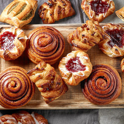 Pastry is a sweet dough made by mixing water, fat, and flour.