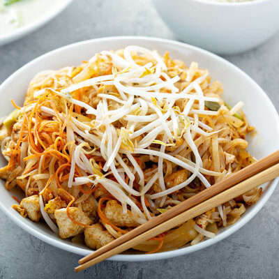 Bean sprouts (Vigna radiate) are the soft edible shoots harvested from the germination of beans.
