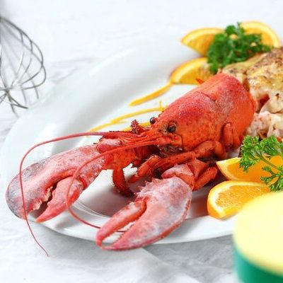 Lobster falls under the category of seafood.