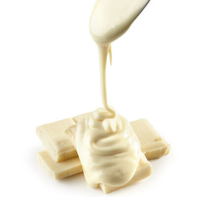 White chocolate is food made from cocoa butter, milk products, sugar, vanilla, and lecithin (a fatty substance)