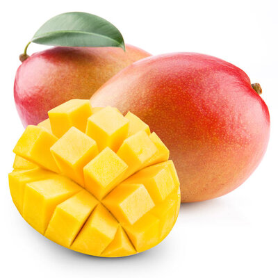 Mango is a tropical stone fruit with a yellow, red, or green edible skin and a deep yellow flesh.