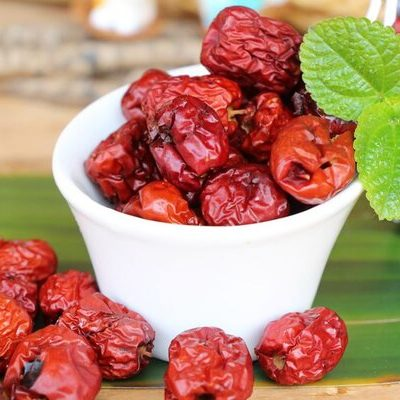Jujube fruit, also known as red date and Chinese date, is a small and round stone fruit.