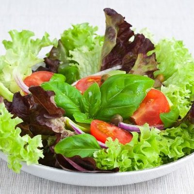 Lettuce (Lactuca sativa) is a leafy vegetable from the asparagus family.