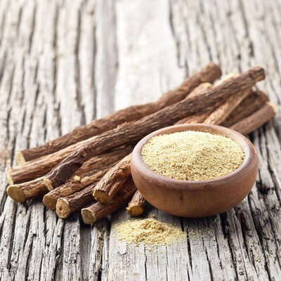 Licorice is a root belonging to the Glycyrrhiza glabra family, which is used as a flavoring agent in parts of Europe and Asia.