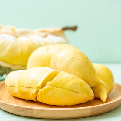 Durian is a fruit that is popular in Southeast Asia.