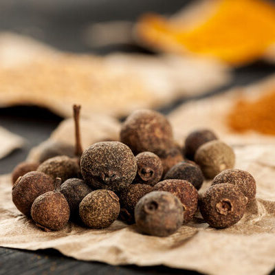 Allspice is a spice made from the dried and unripe berry of the Pimenta dioica.