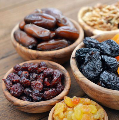 Dried fruits are the desiccated versions of every fresh fruit.