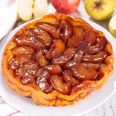 Tarte Tatin is a French fruit tart named after the Tatin sisters.