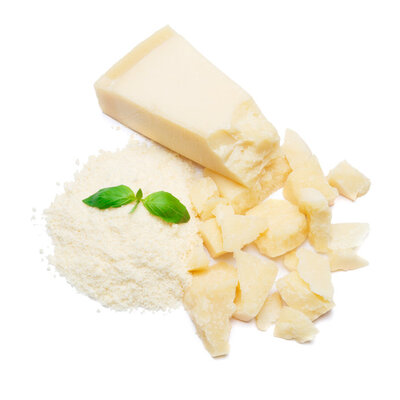 Parmesan cheese is a hard cheese produced only in Italy.